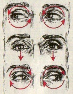 Вращать глазами.